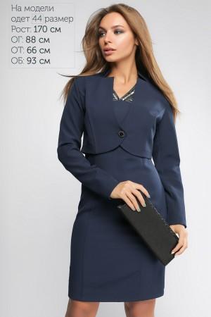 Синє стильне плаття з болеро 2018 LP43702 Періс