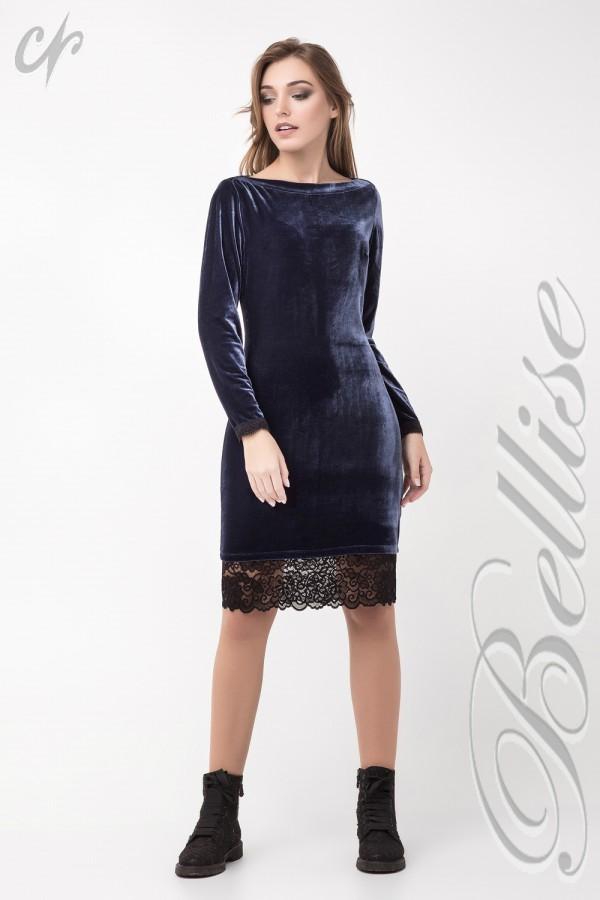 Нарядное синее платье TB137801 Bellise