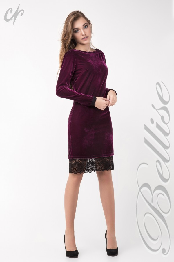 Нарядное розовое платье TB137802 Bellise