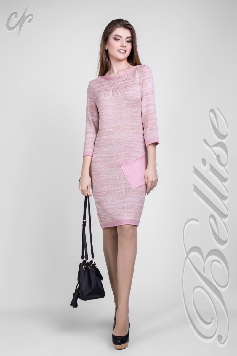 Купити модне в язане плаття 2018 TB142701 Bellise кольору пудра від ... 333d5c39403c6
