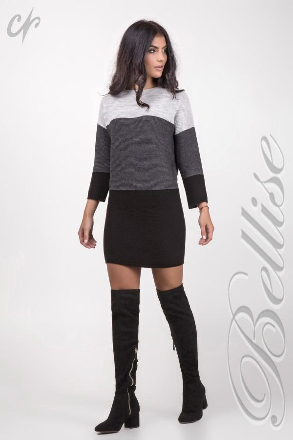 В'язане сіре плаття TB147201 Bellise