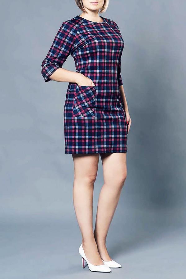 Платье М219 - 44 сине-красное-2