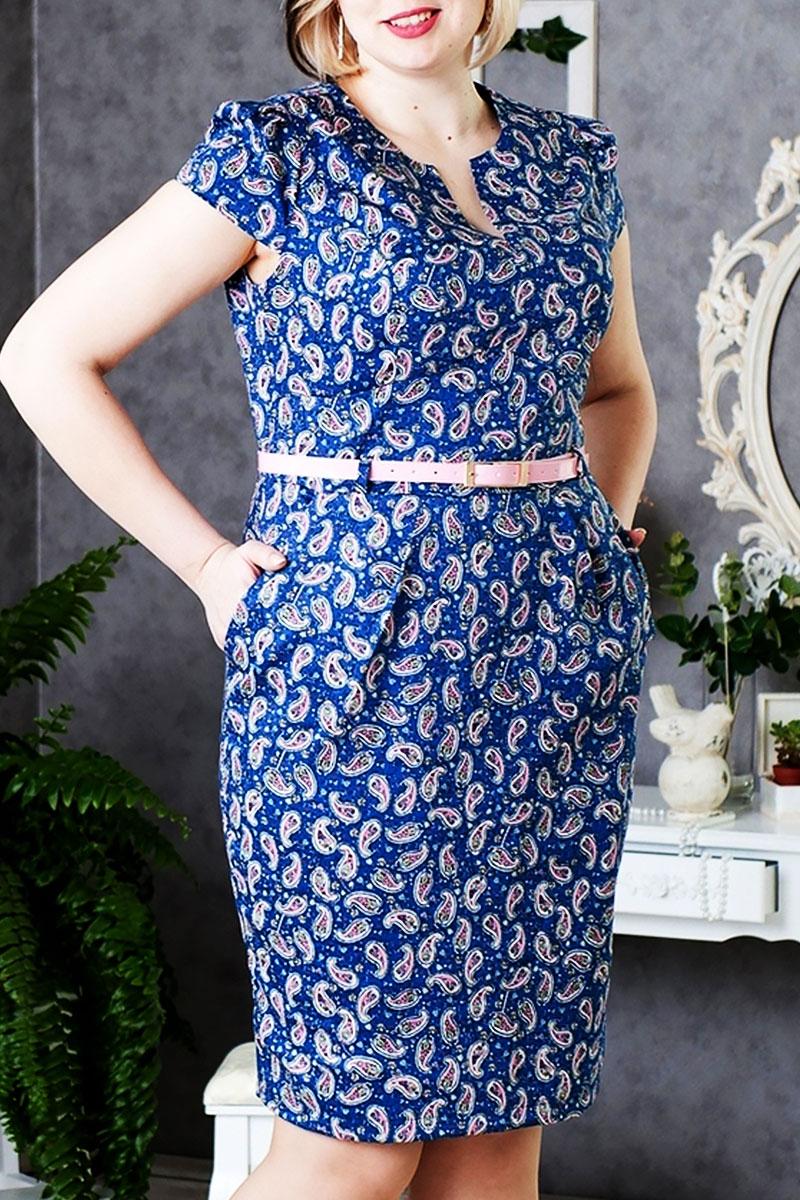 Летнее платье большого размера 289 из стрейч-коттона купить недорого ... 7f6baca9207