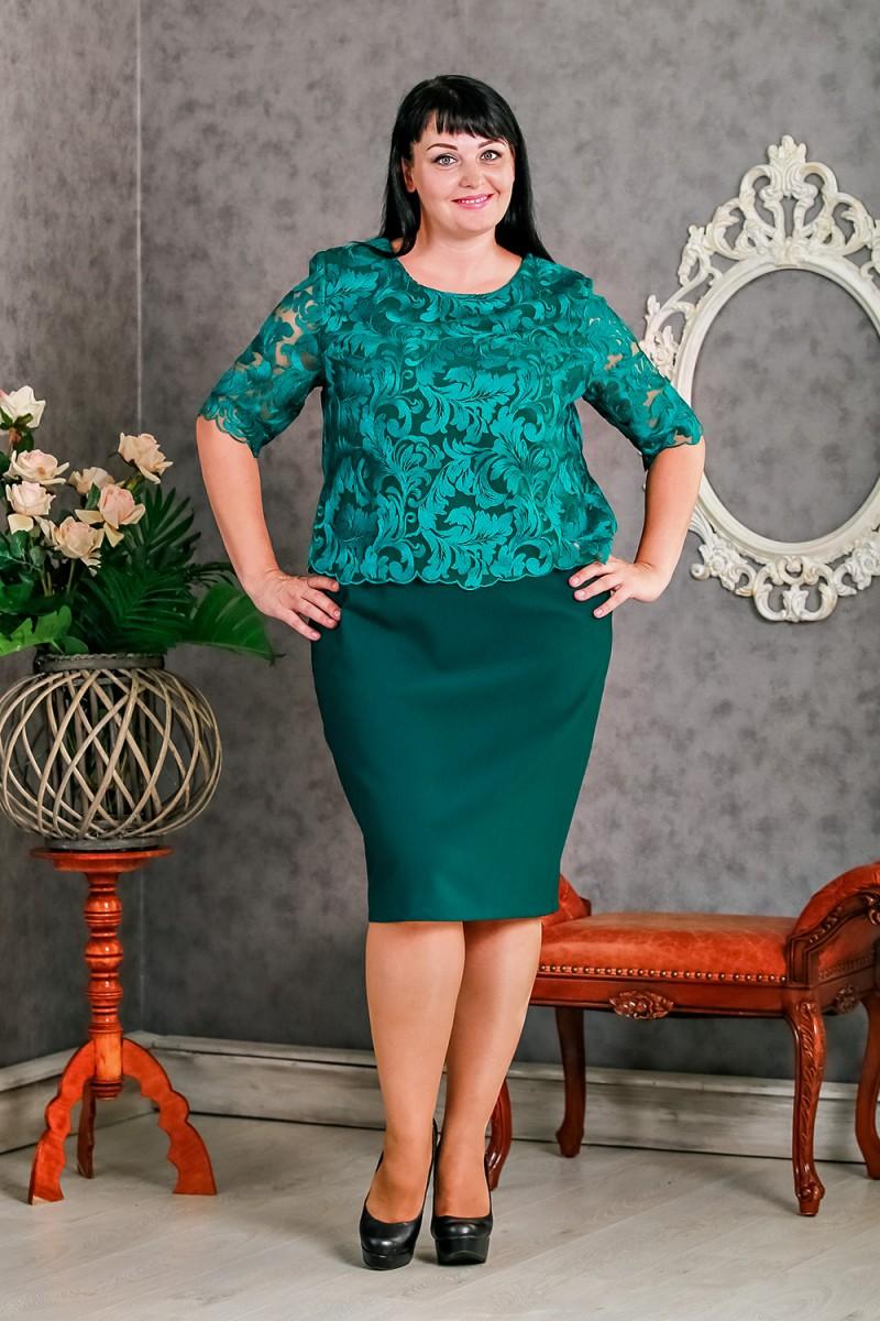 Купити зелене нарядне плаття великого розміру VN30302 від виробника ... e176f26f852fe