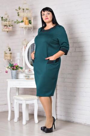Стильное зеленое платье большого размера VN30603 Даяна