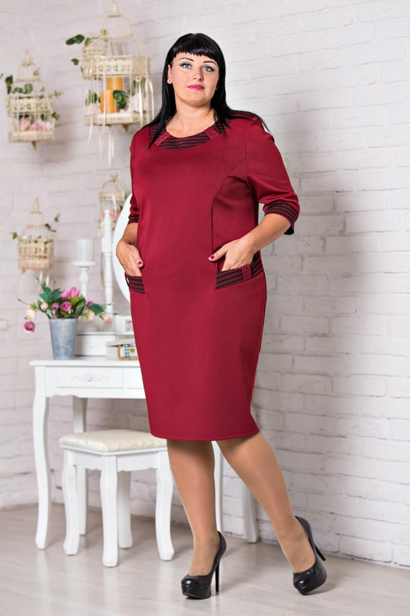 Купити бордове нарядне плаття великого розміру VN30602 Даяна від ... de18709a8a2e0
