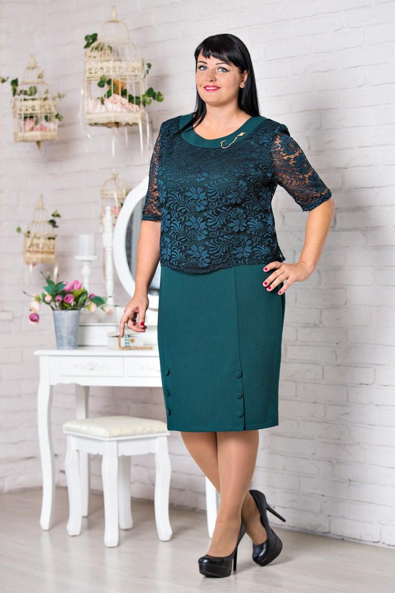 Купити зелене нарядне плаття великого розміру VN30803 Мілана від ... de7388728bfff