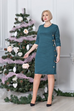 Стильне плаття великого розміру VN31803 зелене
