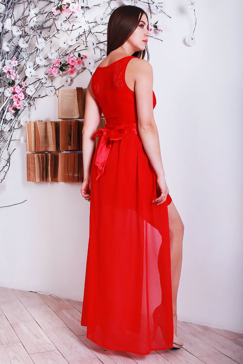 09c69ccfdc1 Купить красное платье YM22002 недорого оптом в интернет магазине ...