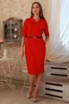 Плаття  227 червоний трикотаж