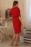 Платье 227  бордо трикотаж