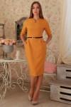 Платье 227  горчица трикотаж