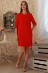 Плаття  229 червоний трикотаж