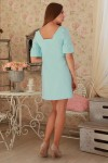 Платье 231 голубой трикотаж