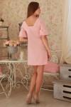 Платье 231 розовый трикотаж