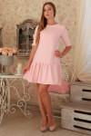 Плаття  232 рожевий трикотаж
