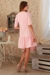 Платье 232 розовый трикотаж