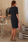 Плаття  233 темно-синій горошек