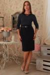 Плаття  235 темно-синій горошек