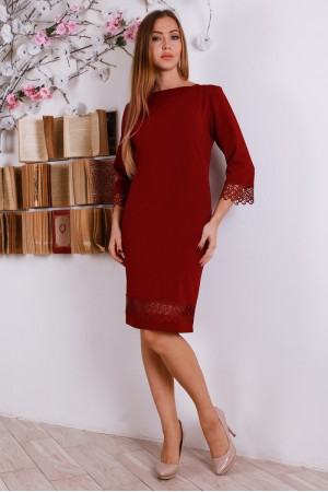 Новорічне плаття YM27206 бордове