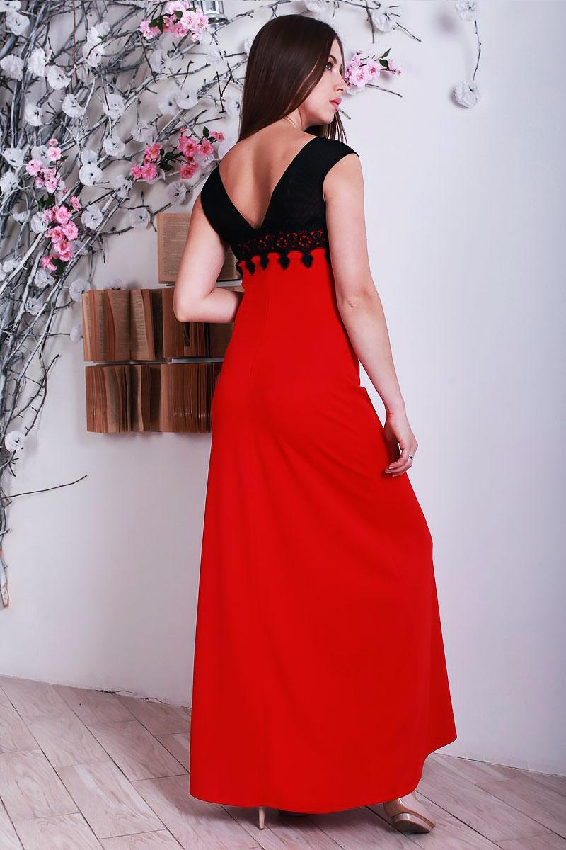 2d70bab8d7d Купити плаття з якісного трикотажу червоного кольору YM28401 ...