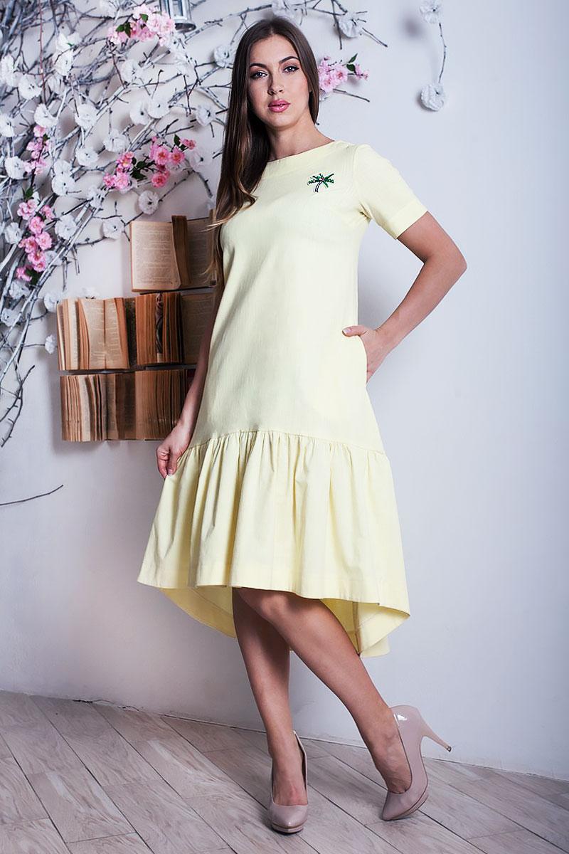 abb3785c46e3 Купить желтое платье YM28703 недорого оптом в интернет магазине ...