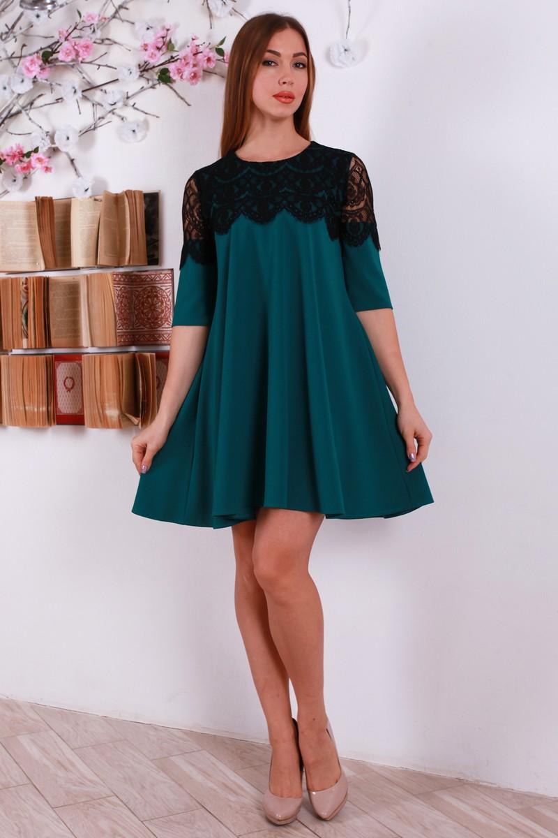 Купити новорічне зелене плаття YM30803 з гіпюром оптом та в роздріб ... 1f55751084924