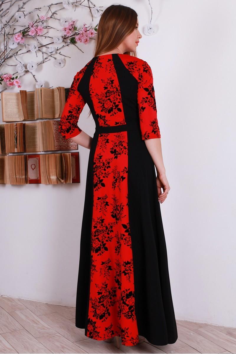 Купити модне довге червоне плаття YM31401 оптом та в роздріб з ... e467189f5cda4