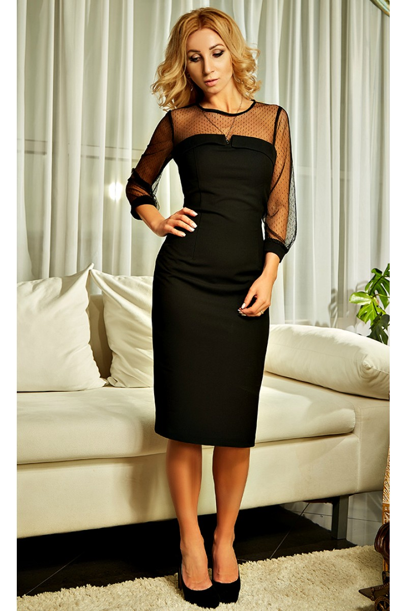 4beb7afdf95 Купить нарядное черное платье Лаура AD21701 недорого от ...