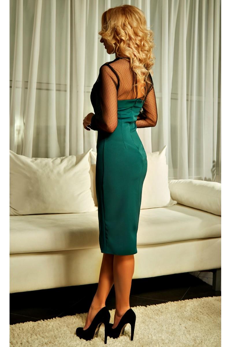 42d392eea44 Купить нарядное зеленое платье Лаура AD21702 недорого от ...
