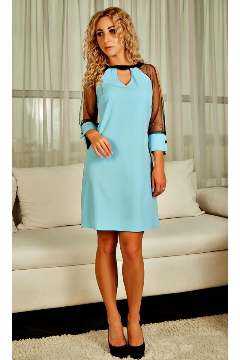 Купити ніжне плаття Джованна AD22603 блакитного кольору від ... c54586aa6ffff