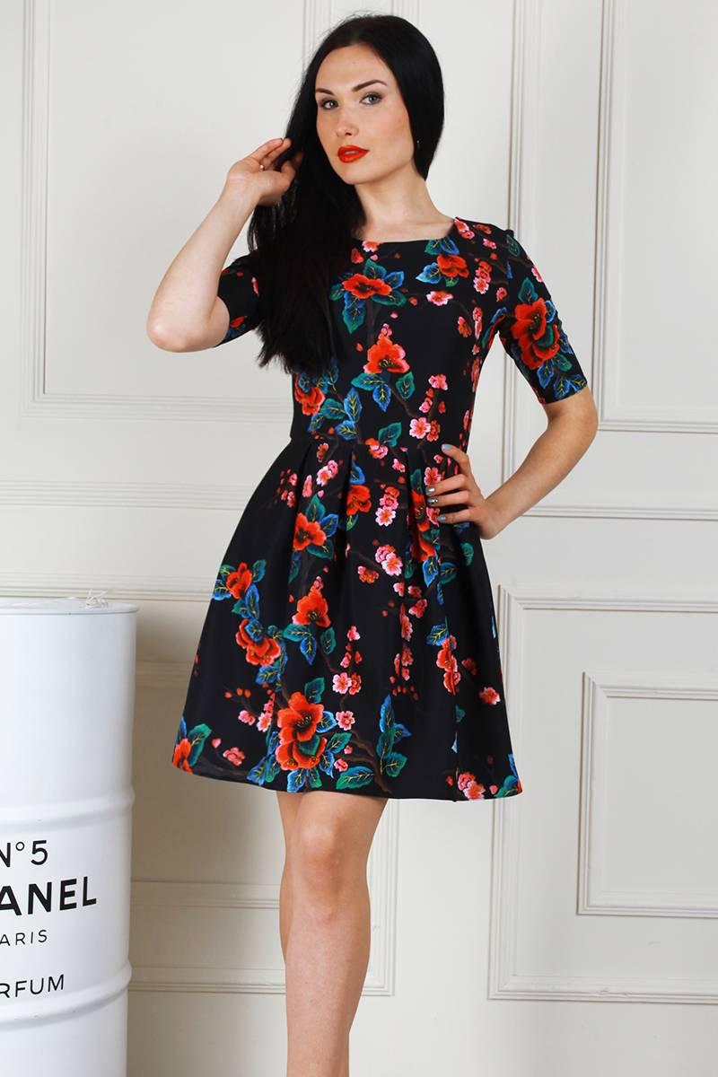 31788d387c3e1d Купити молодіжне чорне плаття AL68401 з принтом недорого з доставкою ...