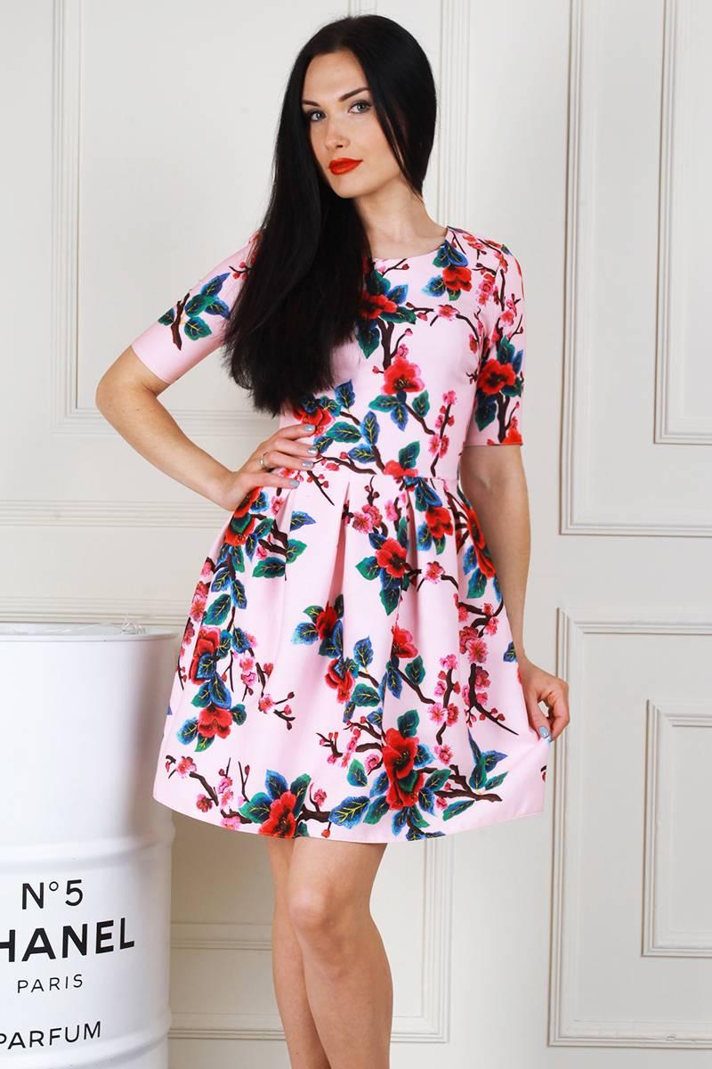 0d5744cec0040b Купити молодіжне рожеве плаття AL68402 з принтом недорого з ...