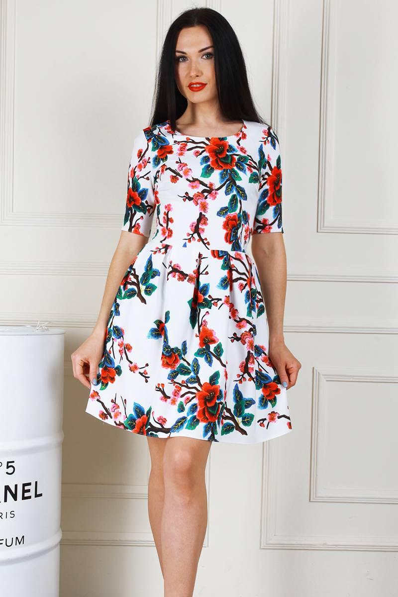 469bc9499c5451 Купити молодіжне біле плаття AL68403 з принтом недорого з доставкою ...