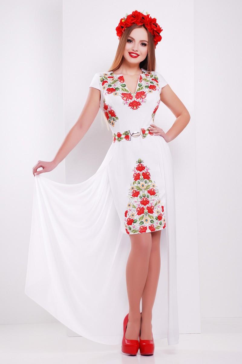 5a926c508b3761 Купити біле плаття Аркадія б/р GL624401 фольклор недорого з ...