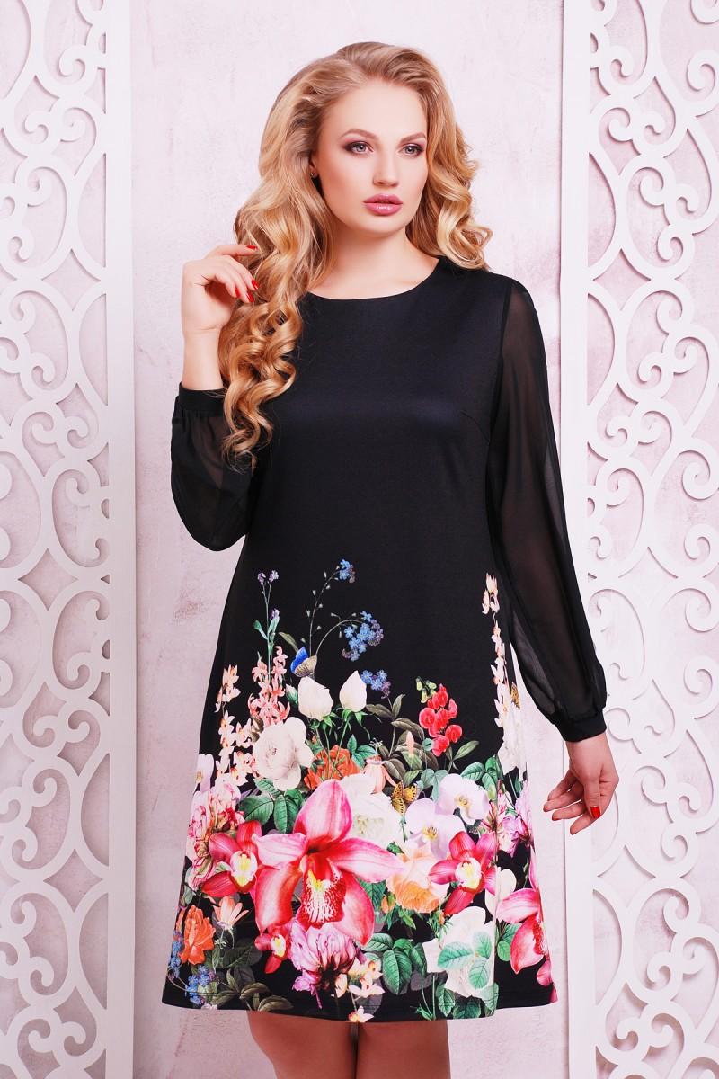 708697916fd447 Купити плаття великого розміру Тана-3БФ (шифон) GL633001 недорого з ...