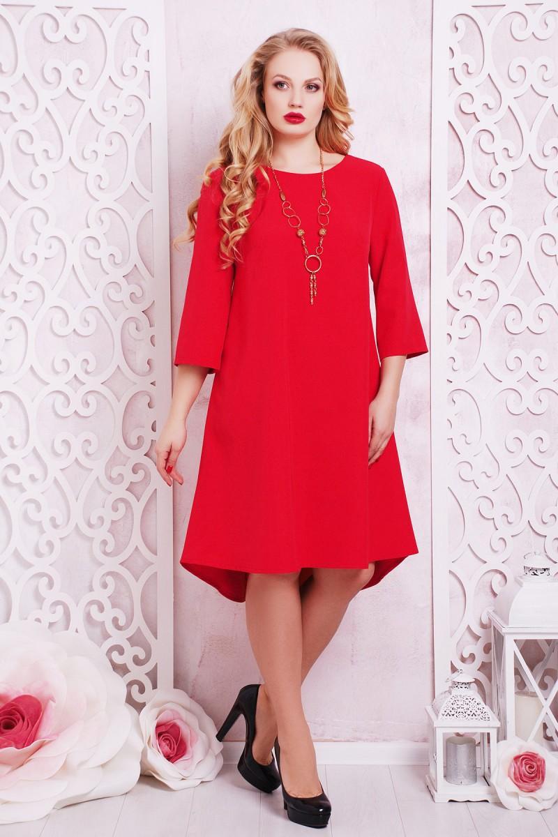 Купити червоне плаття великого розміру Лагуна-Б GL634001 недорого з ... 3ff1b755bca38
