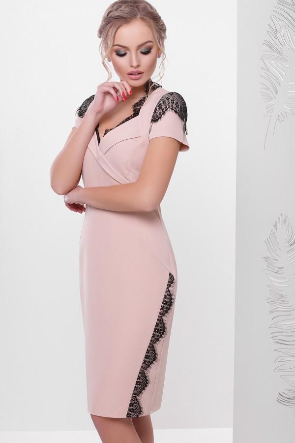 Персикове плаття Светла к/р GL635601