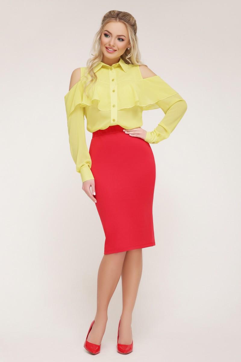 1de2b77a1c552c Купити блуза Джаніна д/р жовта GL646801 шифонова недорого з ...