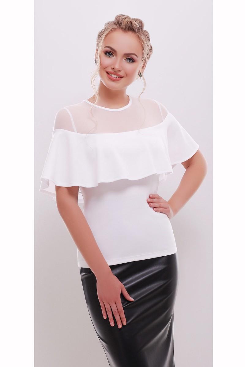 9286001d6a5 Купить блуза Сонья б р белый цвет GL647401 приталенная недорого с ...