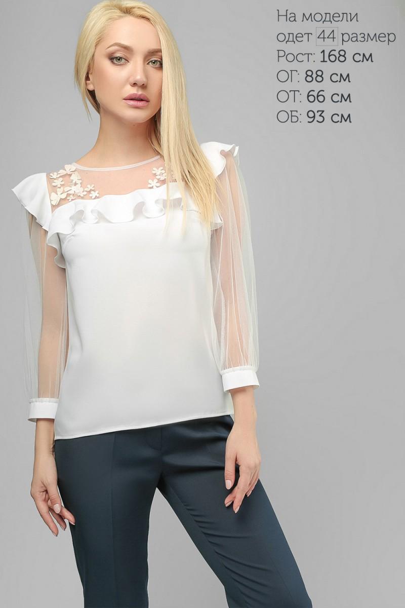 8fbdd99b891 Купить изысканную белую блузу LP208203 недорого от производителя с ...