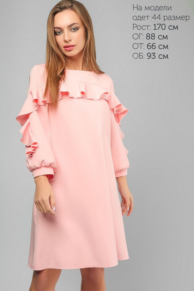 Купити рожеве весняне плаття LP319403 від виробника та з доставкою у ... 9458c2dcd3595