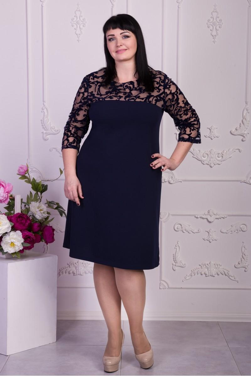 Купити вечірнє синє плаття VN33001 великого розміру від виробника з ... 255c4d358a1a8