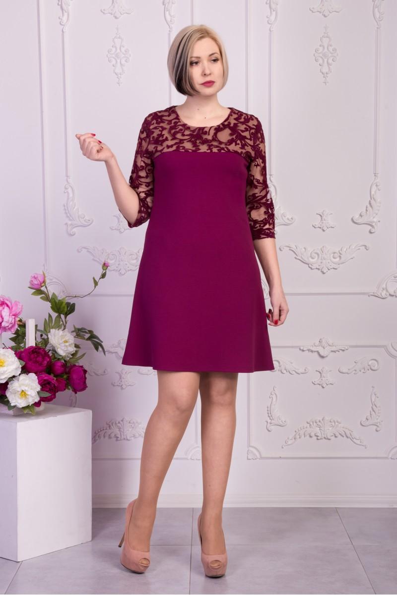 ddfd656c5d7 Купить вечернее малиновое платье VN33002 большого размера недорого ...