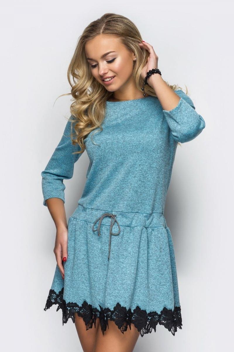 6c0023069226103 Купити вечірнє синє плаття 32226 з мереживом з доставкою у Львів ...