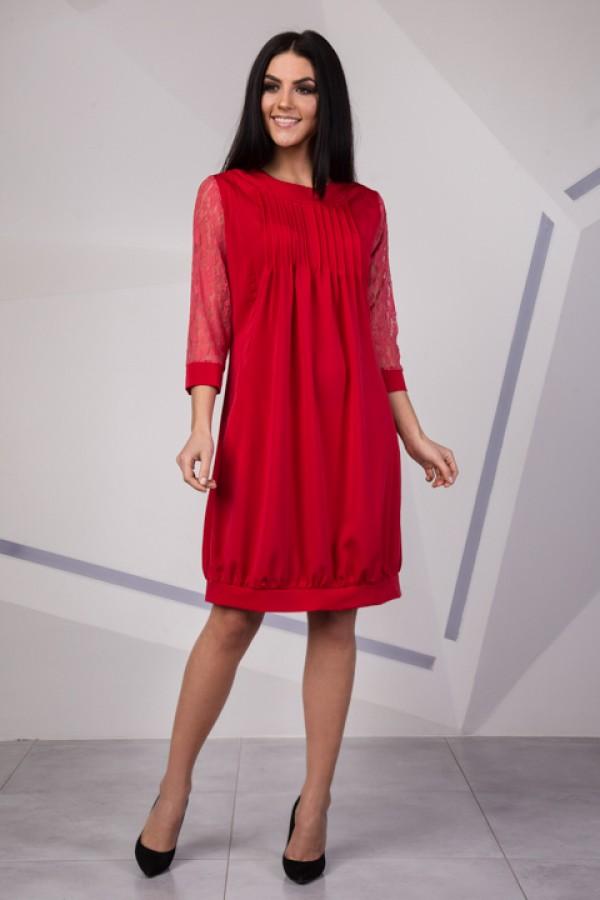Модне червоне плаття SL10101 весна 2018