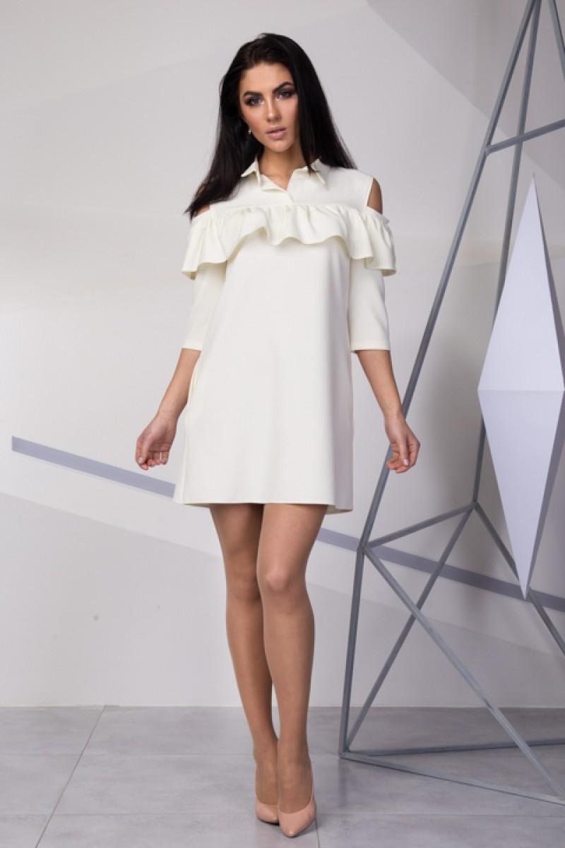 18abd5e188b1cf Купити вечірнє біле плаття SL712506 весна 2018 недорого від ...