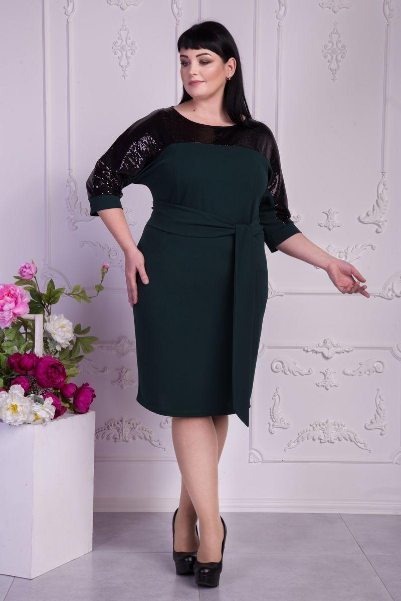 f26cf8852a8f29 Купити модне зелене плаття (пляшка) VN32603 великі розміри від ...