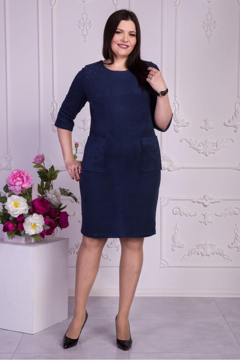Купити повсякденне синє плаття VN32901 великі розміри від виробника ... 5ee1b2949d091