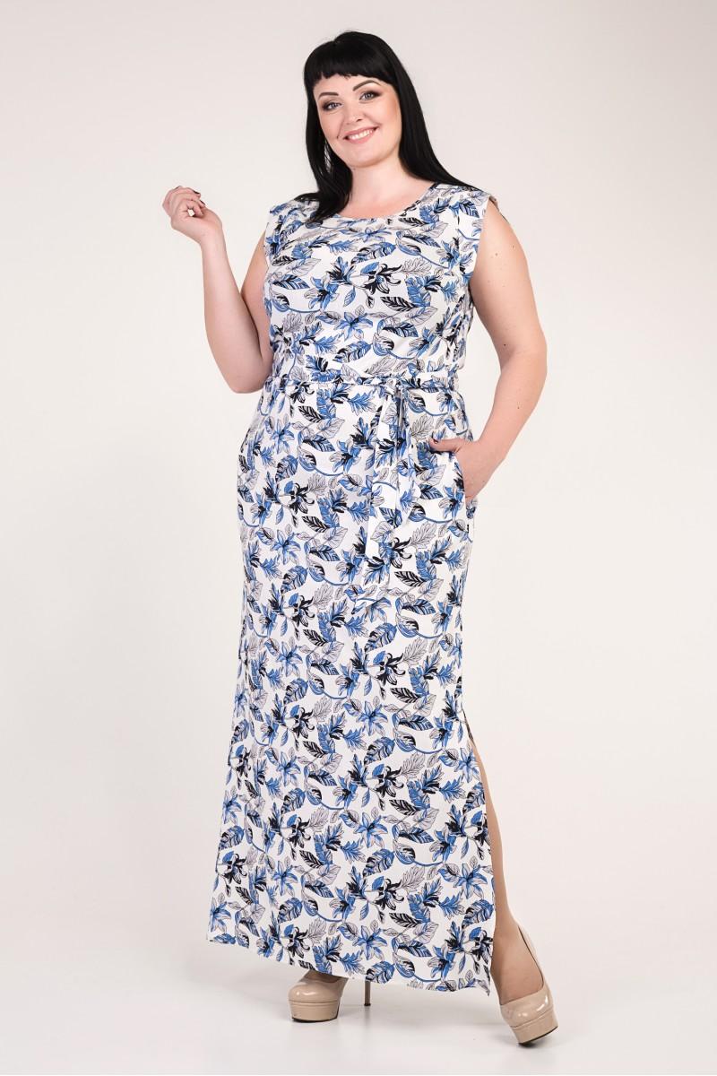 ee8b379ac040cf Купити літнє біле плаття великого розміру VN33202 з квітами від ...